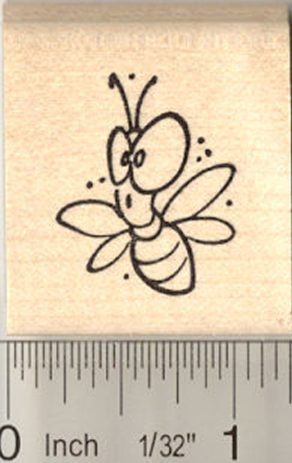 Cute Big-Eyed Bug Rubber Stamp