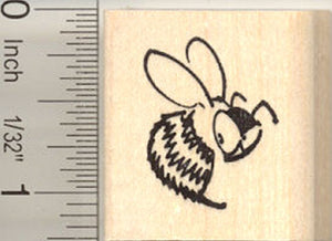 Bee with Attitude Rubber Stamp