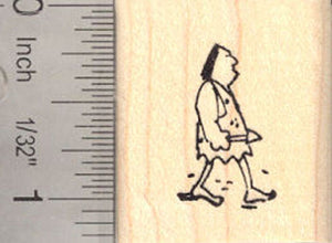 Tiny Caveman Rubber Stamp