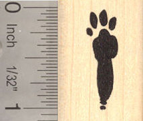 Bunny Paw Print Rubber Stamp