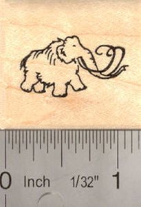Tiny Mammoth Rubber Stamp (Extinct Megafauna)