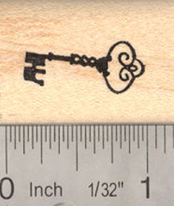 Skeleton Key Rubber Stamp