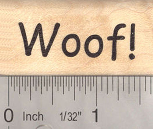 Woof! Dog Saying Word Rubber Stamp