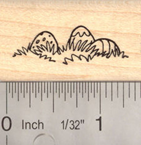 Easter Eggs in Grass Rubber Stamp