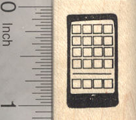 Smartphone Rubber Stamp, Cell Phone