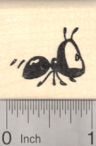 Ant Rubber Stamp, with Big Eyes