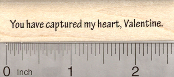 Valentine's Day Saying Rubber Stamp, You have Captured my Heart