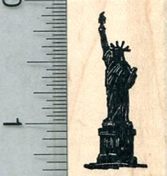 Small Statue of Liberty Rubber Stamp, Silhouette