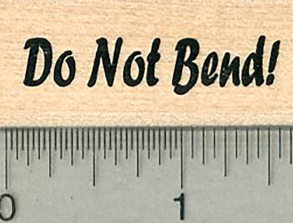 Envelope Rubber Stamp, Do not Bend