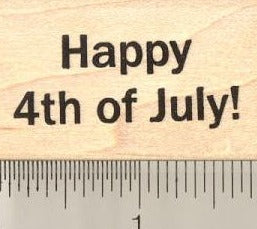 Happy 4th of July Rubber Stamp, American Independence Day