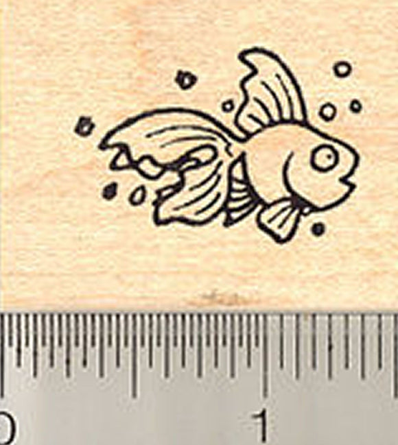 Cute Little Fish Rubber Stamp