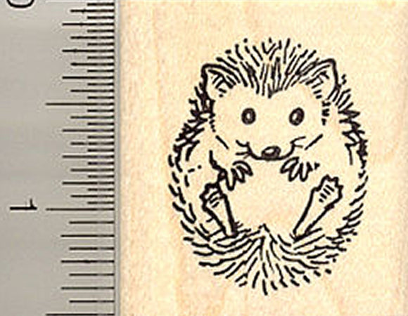 Small Hedgehog Rubber Stamp