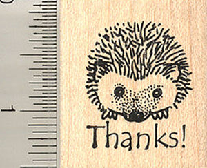 Thank you Hedgehog Rubber Stamp