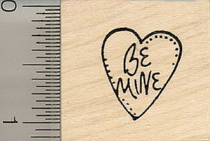 Be Mine Valentine Heart Rubber Stamp