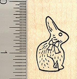 Small Chocolate Easter Bunny Rubber Stamp