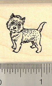 Tiny Cairn Terrier Rubber Stamp