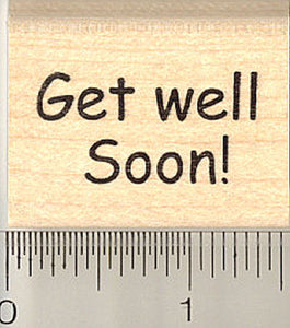 Get Well Soon! Rubber Stamp