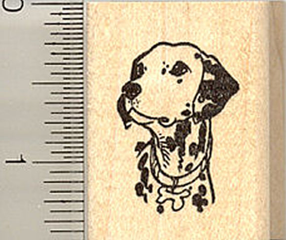 Dalmation Portrait Rubber Stamp