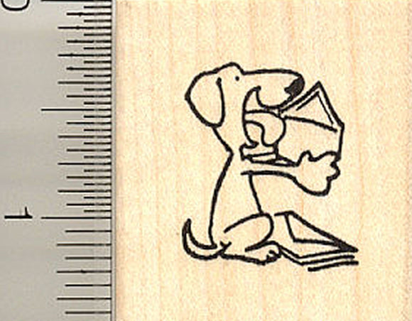 Dog Licking Envelope Rubber Stamp