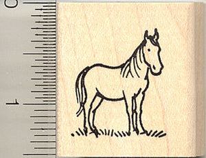 Small Horse Rubber Stamp