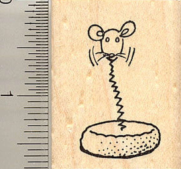 Cat Toy Rubber Stamp