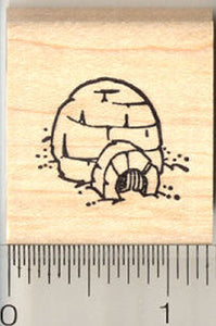 Little Igloo Rubber Stamp