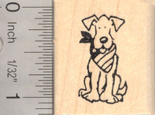 Small Patriotic American Dog (USA) Rubber Stamp