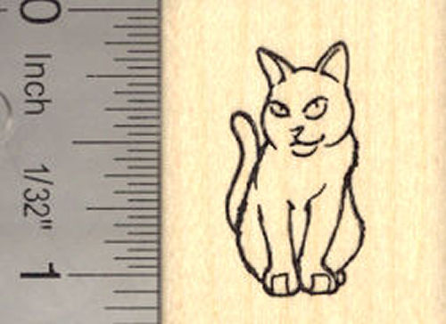 Small Cat Rubber Stamp
