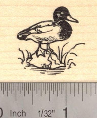 Small Mallard Duck Rubber Stamp