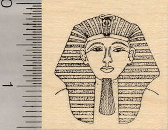 Egyptian King Tut Rubber Stamp, Pharaoh Tutankhamun