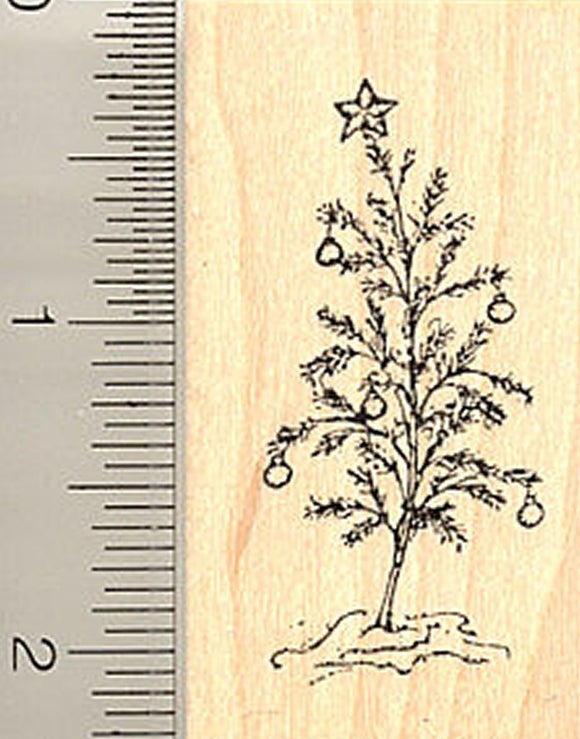Small Christmas Tree Rubber Stamp