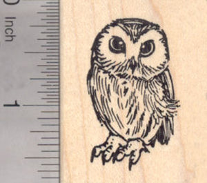 Small Owl Rubber Stamp
