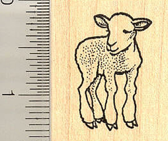 Small Lamb Rubber Stamp, Easter or Spring