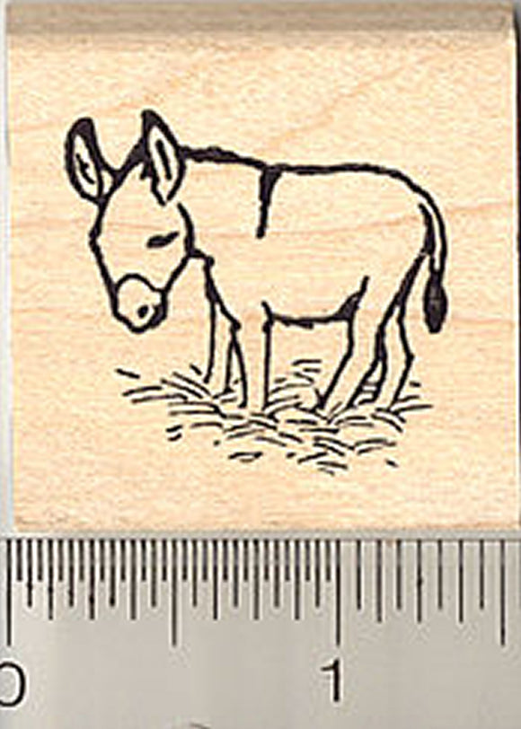 Small Miniature Donkey Rubber Stamp