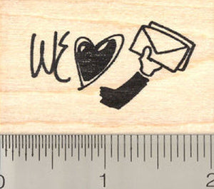 We Love Our Letter Carrier Rubber Stamp
