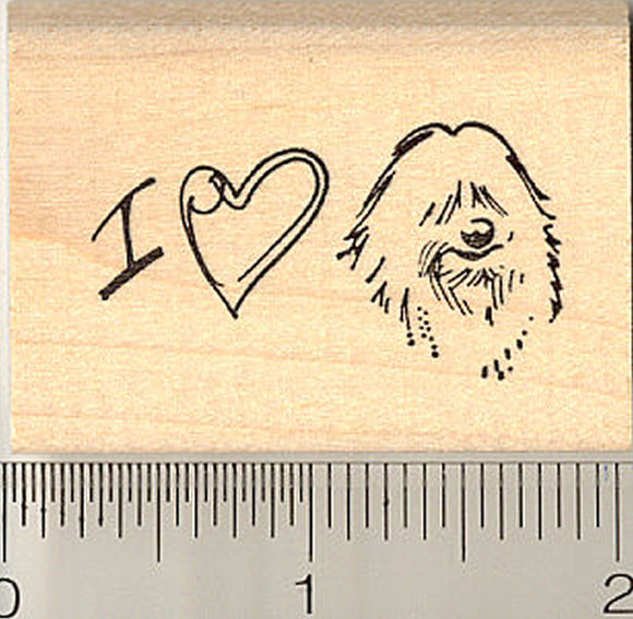 I Love My Coton de Tulear Dog Rubber Stamp