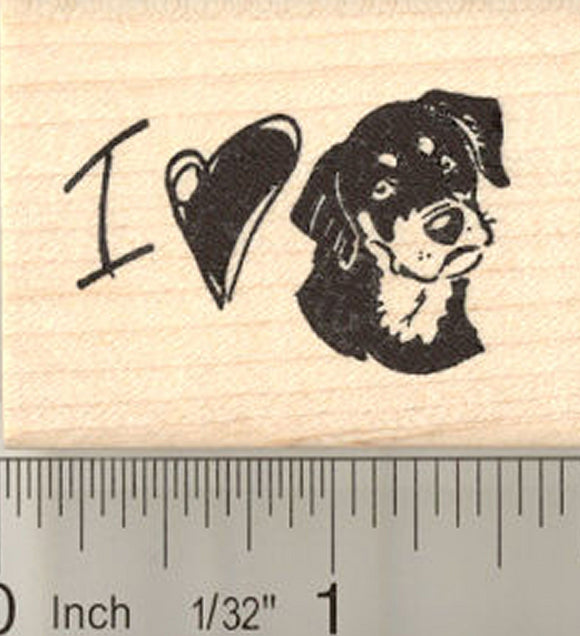 I Love My Dog Rubber Stamp