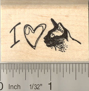 I Love My Burmese Cat Rubber Stamp