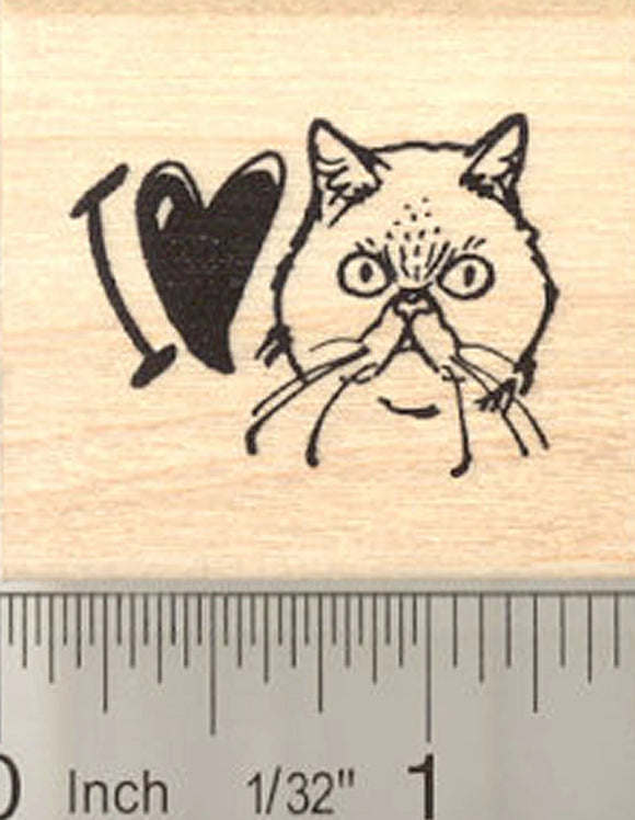 I Love My Persian Cat Rubber Stamp
