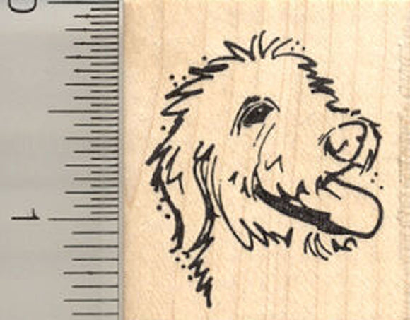 Small Labradoodle Profile Rubber Stamp
