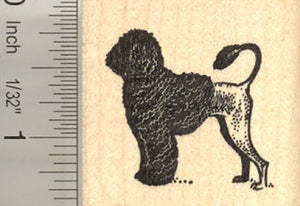 Portuguese Water Dog, Lion Cut Rubber Stamp