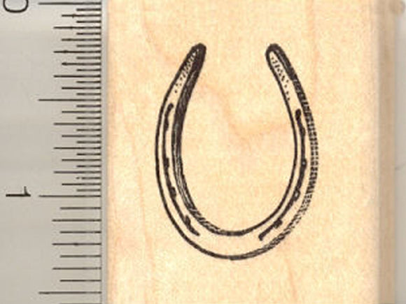 Horse Shoe Rubber Stamp