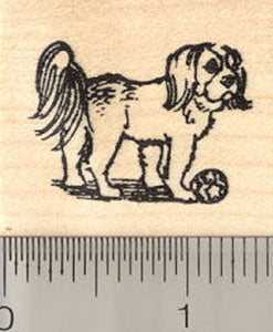 Shih Tzu Dog Rubber Stamp