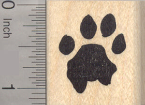 Lion Paw Print Rubber Stamp