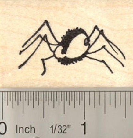 Watchful Spider Rubber Stamp
