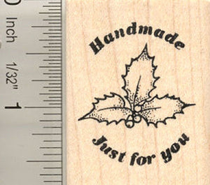 Handmade Just For You Christmas Rubber Stamp