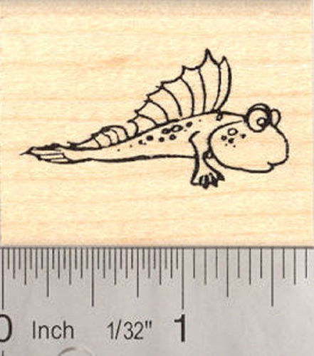 Cute Mudskipper Rubber Stamp