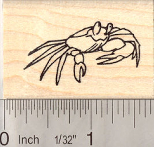 Little Crab Rubber Stamp