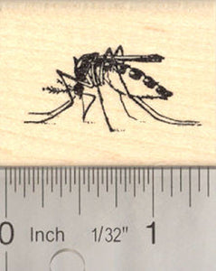 Mosquito Rubber Stamp (realistic)