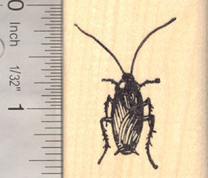 Cockroach Beetle Rubber Stamp